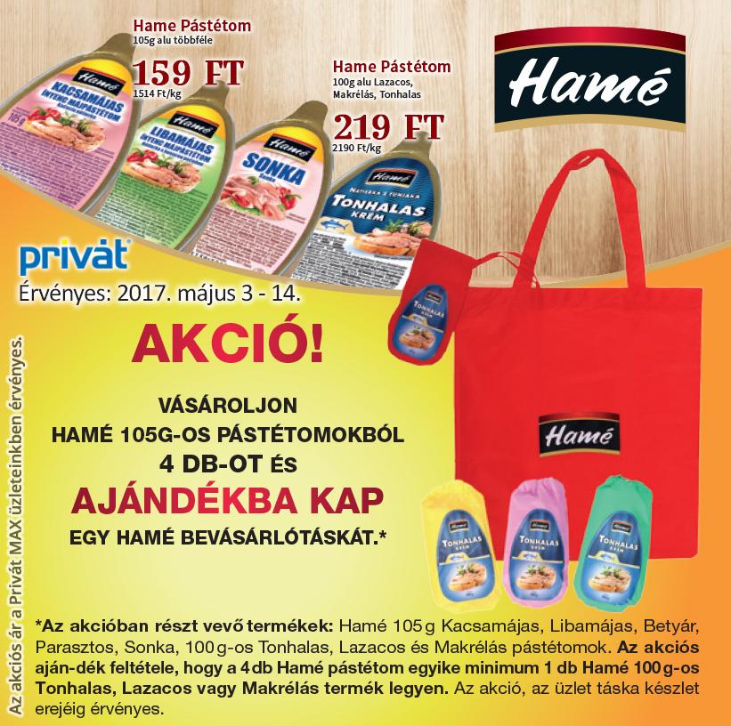 Ajándék bevásárlótáska a Hame-tól!