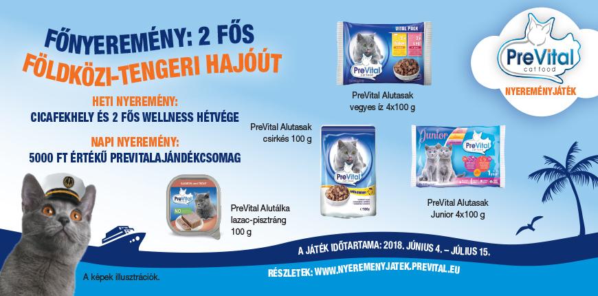 PreVital cat food nyereményjáték