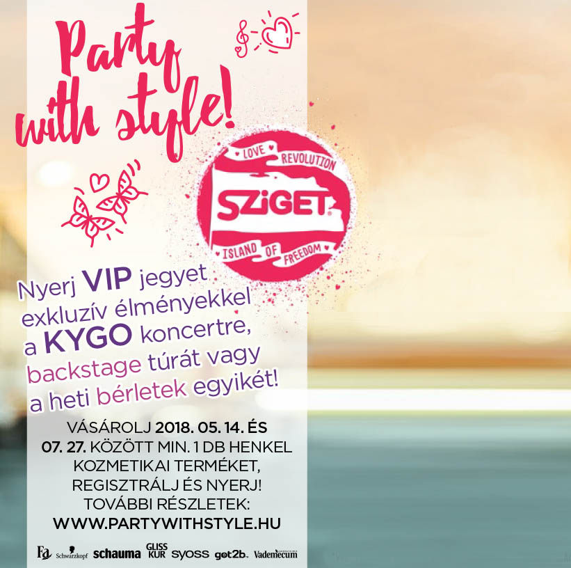 Party with style! Nyerj Sziget bérletet!