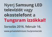 Nyerj Samsung LED televíziót vagy okostelefont a Tungsram izókkal