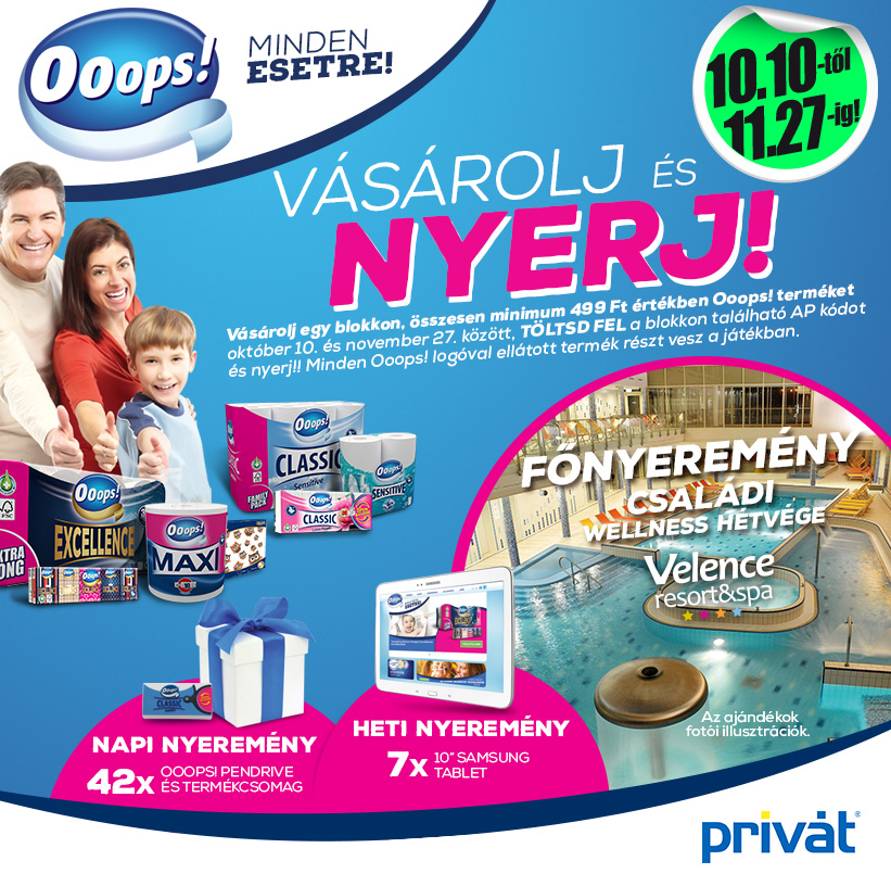 Vásárolj és Nyerj az Ooops!-al!